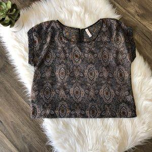 Xhileration crop blouse